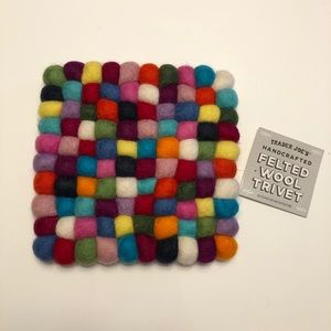 Trader Joe's | Colored Felt Trivet NWT